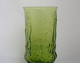 Avocado Green Vase Large Green Vase with Pressed Flowers