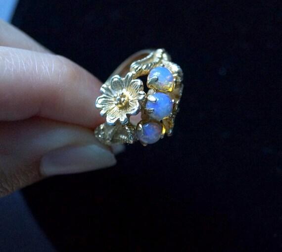 Vintage Avon Faux Opal Ring