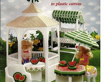 Fashion Doll Summer Garden in Plastic Canvas Pattern 3121 American School of Needlework