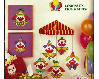 Send in the Clowns in  Plastic Canvas Pattern Leisure Arts 1110