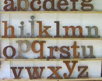 One lowercase metal letter, Your choice a-z from Screaming Horse Iron Works. Custom sizes and styles available.
