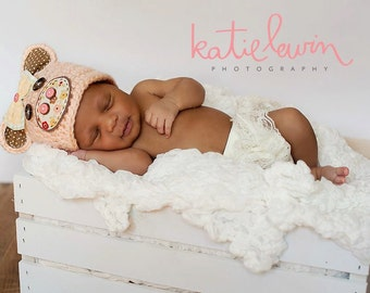 Newborn Pig Hat - Photo Prop - Newborn - Barnyard Cutie