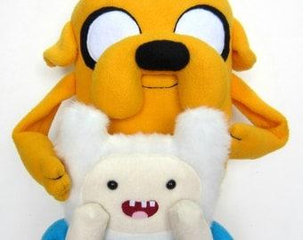 Finn and Jake: Large Plush Adventure Time Set