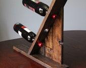 Table top - Reclaimed Pallet Wood Furniture - Wine Rack