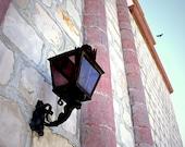Architecture photography, California, Spanish, pink, Historic - Old Mission Santa Barbara 8x12 fine art photograph