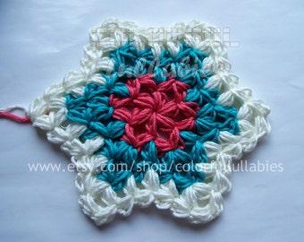 Crochet Puff Star Pattern. Hanging Ornament