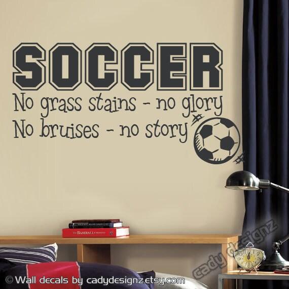 Soccer Wall Decor soccer sports vinyl wall decal children decor no grass