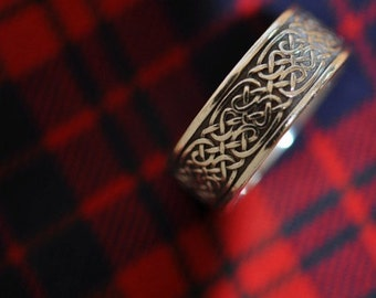 Intricate Celtic Knot Band