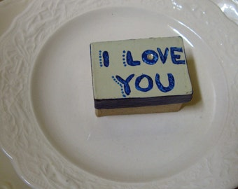 I Love You   keepsake treasure trinket box  free shipping