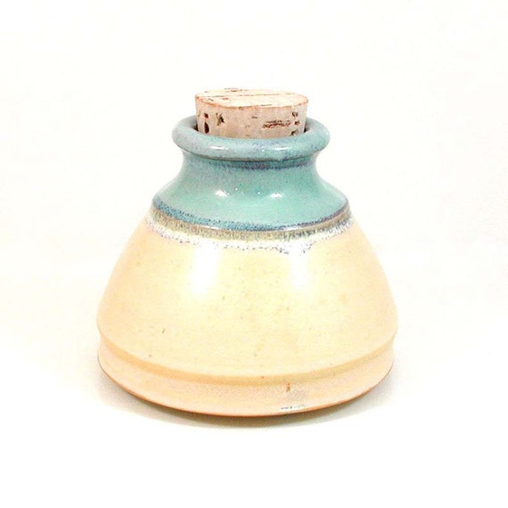 Lidded Stash Box Ceramic Spice Jar Porcelain Bell Jar