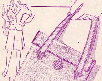 1944 crocheted handbag pattern PDF