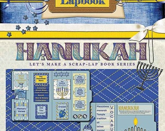 Hanukkah Digital Lapbook Kit Classroom Use Unit Study on 8 Days of Hanukkah Focus Jesus Christ- the Light of the World