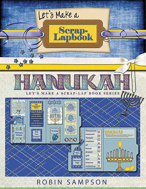 Hanukkah Digital Lapbook Kit in Blue and Gold. Thematic Unit Study on 8 Days of Hanukkah Focus Jesus Christ- the Light of the World