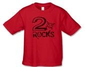 2nd Birthday Shirt - 2 Rocks T-Shirt - Perfect for rock n' roll birthday party