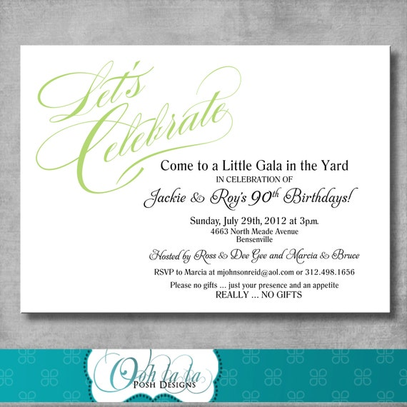 Printable Adult Birthday Party Invitation - DIY - CUSTOMIZABLE