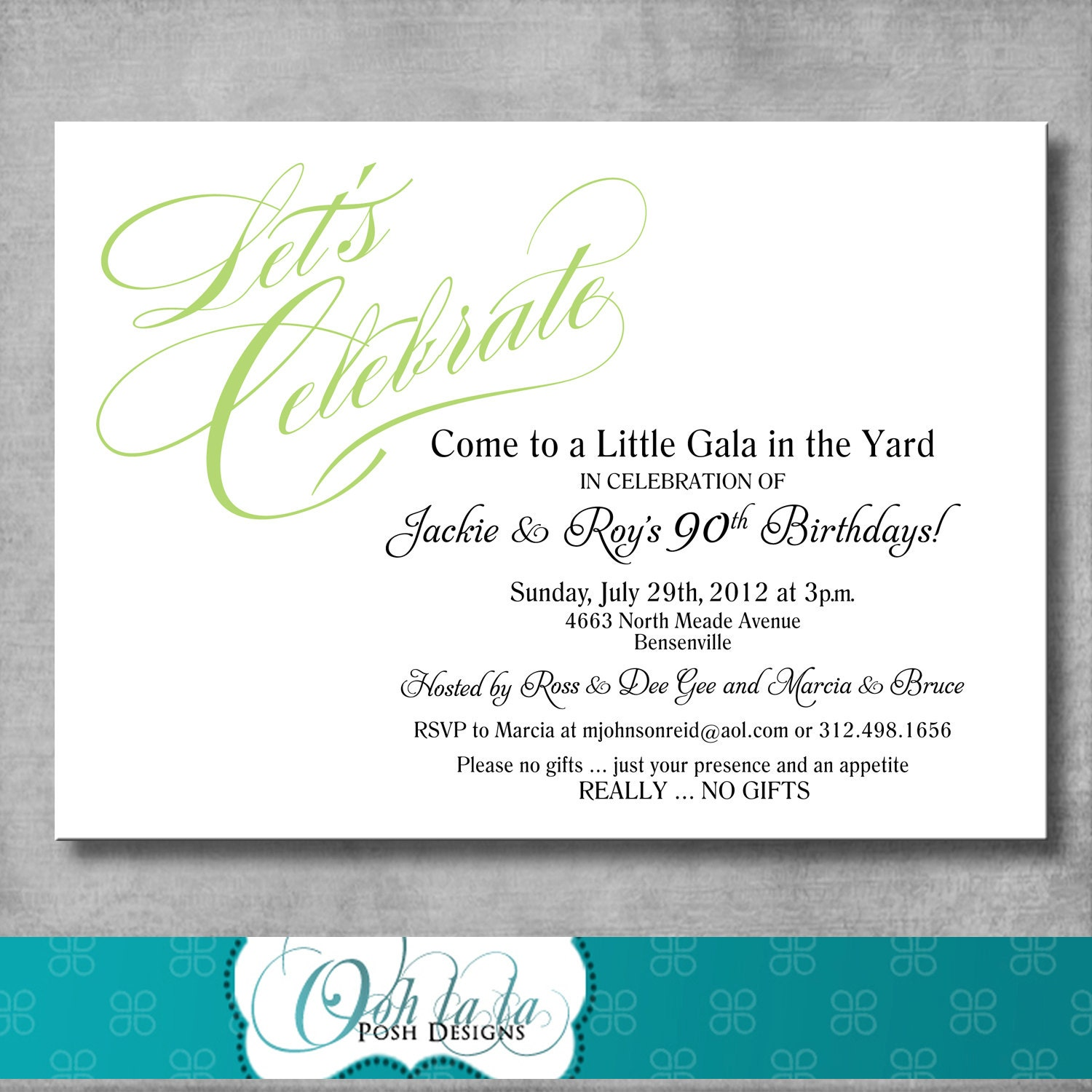 Printable Adult Birthday Party Invitation DIY CUSTOMIZABLE