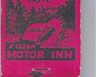 Elwood Court Motor Inn matchbook 1950s Elwood Indiana