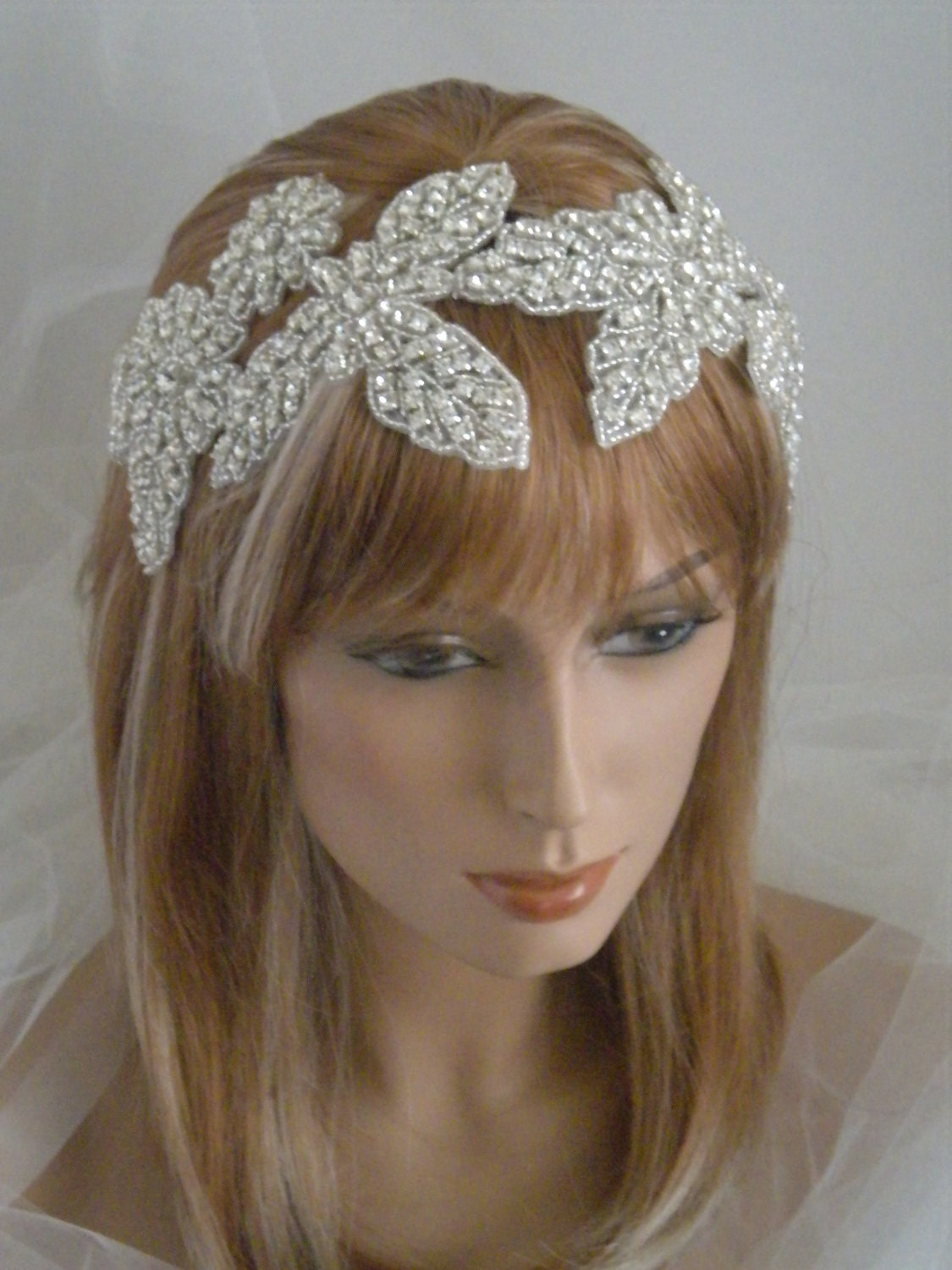 1920 S Bridal Headpiece Flapper Edwardian Old