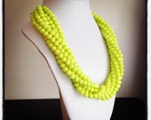 Neon Yellow Statement Necklace Last One