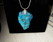 Georgeous Bisbee Turquoise on Sterling Chain