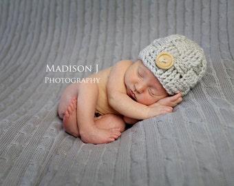 Baby boy hat, newborn boy hat, basketweave hat, baby boy beanie, newborn photo prop, infant boy, woven, newborn boy clothes, outfit, checker