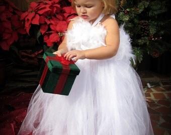 Winter Wonderland- Flower Girl -  Tutu Dress sizes 18-24m, 2t, 3t, 4t, 5t, 6