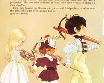 Little Ida's Flowers - Vintage Illustration Storybook Print - Deans A Book of Fairy Tales - Paper Ephemera