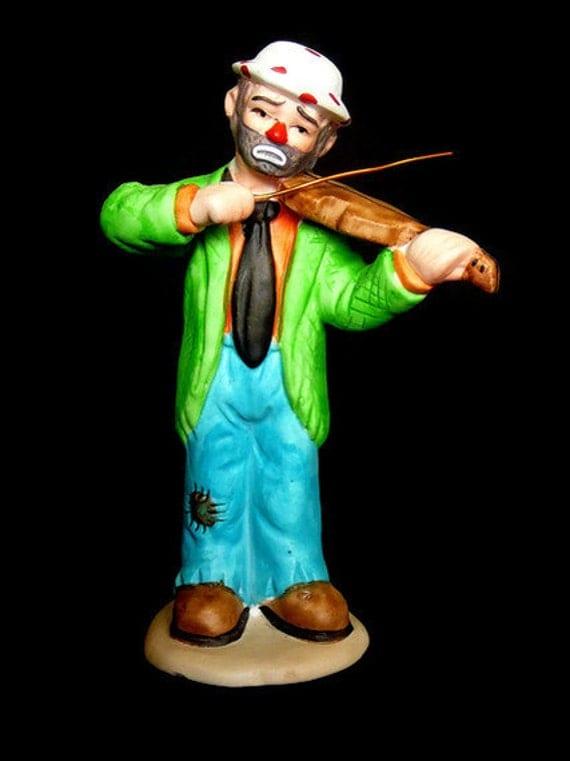 Flambro Emmett Kelly Jr Porcelain Clown Figurine