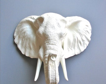 Elephant Head Wall Decor large faux taxidermy lion head wall mount wall hanging in
