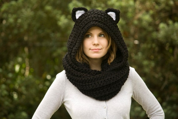 Cat Ear Crocheted Cowl Pattern