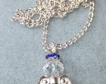 Pearl angel pendant