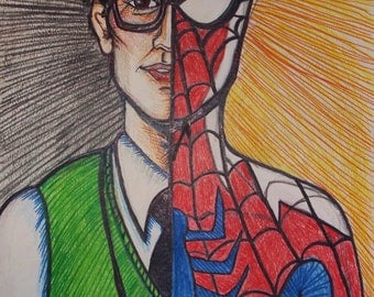What a tangled web we weave (Spider-Man a la Andrew Garfield ---- Fan Art Print)