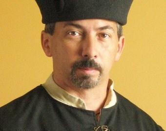 Medieval Celtic Renaissance Tudor Borgias Larp SCA Noble Hat Deluxe (Single Opening)