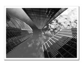 Philadelphia Photography Print,  Downtown Philly Skyscrapers, Black and White, Photo Paper or Canvas Art Photography 5x7, dude gift