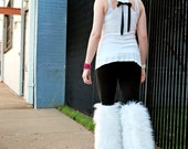MADE TO ORDER Thigh high fluffies Above the knee gogo boot covers fluffy legwarmers rave anime festival costume leggings