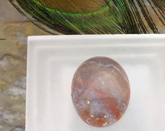 30X22 mm Oval Rhodonite Cabochon ~ Pink Stone with Grey Veins ~ Rose Colored Rock ~ Unset Unmounted Gemstone