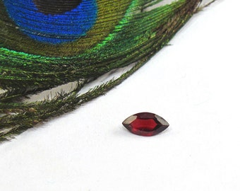 Garnet Faceted Marquise - 8 X 4 mm Genuine Natural Faceted Gemstone - January Birthstone