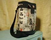 CUSTOM LISTING for KOKUEI  Bucket Bag Michael Miller Print with Canvas Adjustable Strap