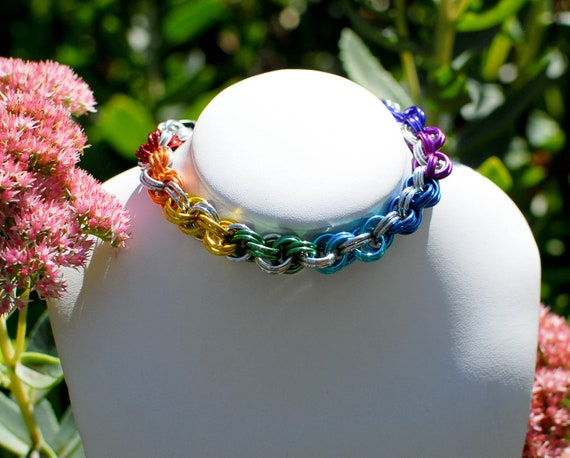 Rainbow Pride Luxury Cat / Dog Collar With or Without Breakaway Safety Clasp - Ready To Ship