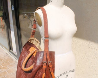"""THE  BEAST Bag - This stunning """" CUSTOM leather bag, is made by hand in my Stone Mountain studio ,You will love the details !!!"""