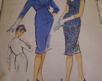 Vintage 1950's McCall's 4952 Dress and Jacket Sewing Pattern, Size 12, Bust 32