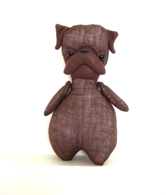 Mon Cher Pug (brown, chocolate, dark brown, green, hunter green) pug doll