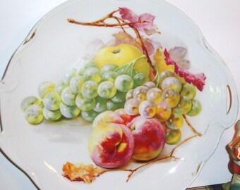 Vintage J & C Louise Bavaria Porcelain Fruit Design Plate - Home Decor - Kitchen Decor - Jaeger and Company - Germany - Collectibles