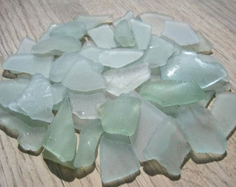 Bulk Sea Glass Beach Decor Seafoam Green, Light Blue