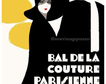 Art Deco Bal De La Couture giclee poster print