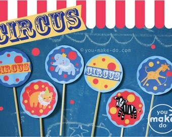 circus party, circus birthday, carnival party, circus party favors, circus party printables, circus party decorations, circus cupcake topper