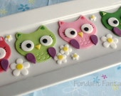 Party Owl Cupcake Toppers