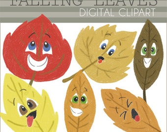 Popular items for autumn leaf clipart on Etsy