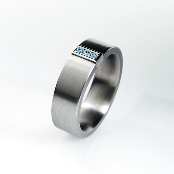 like this item - Blue Diamond Wedding Ring