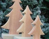 Unfinished Set of 3 Wooden Decorative Trees